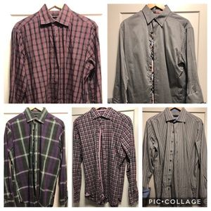 5 Hammermade Men's Dress Shirts Size 41/16